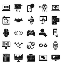 Intellect icons set simple style vector