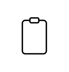 line clipboard icon on white background vector image