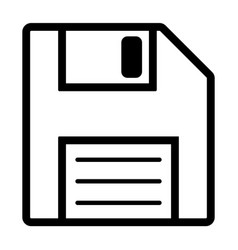 line floppy drive icon vector image