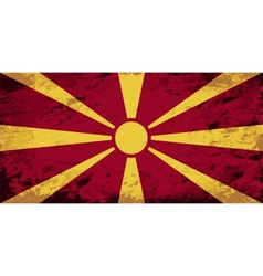 Macedonian flag grunge background vector
