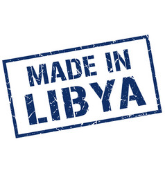 Made in libya stamp vector