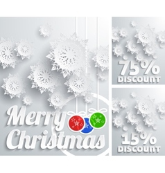 Merry Christmas background discount set vector image vector image