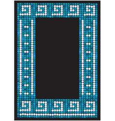 mosaic frame - portrait border vector image vector image