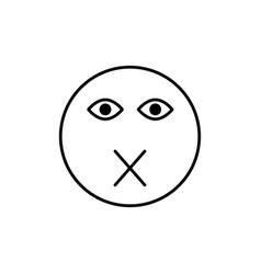 muted emoticon vector image