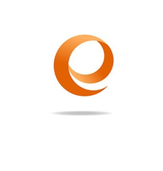 Orange letter E logo graphic shape icon vector image vector image