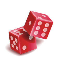 playing dice set realistic 3d vector image