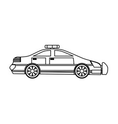 Police car isolated vector