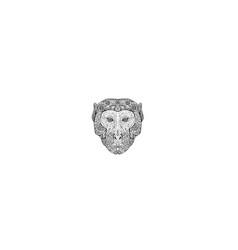 Rhesus macaque head front mandala vector