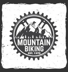 set of mountain bikings clubs vector image