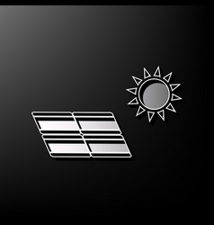 Solar energy panel eco trend concept sign vector