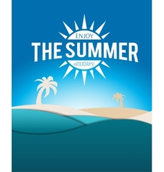 Summer poster vector image vector image