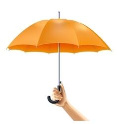 Umbrella in hand vector