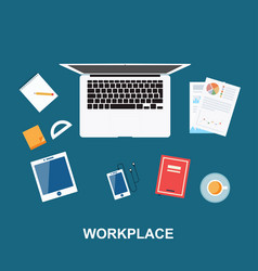 Workplace concept design vector