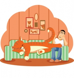 Sleep cat vector