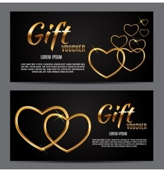 Valentine s day heart symbol gift card love and vector