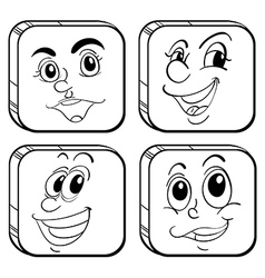 Four different kinds of square faces vector