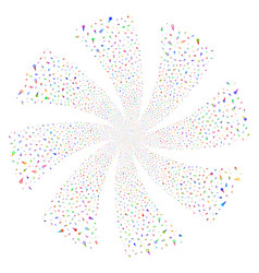 confetti stars fireworks swirl rotation vector image