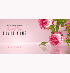 Rose flower banner vector