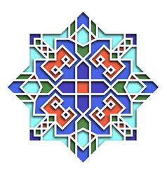 Arabesque pattern vignette in eastern style vector