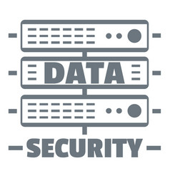 server data security logo simple style vector image