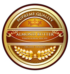 Almond butter label vector