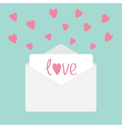 Envelope with hearts love card vector