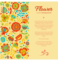 Card for congratulations floral background vector