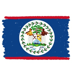 Flag of belize handmade vector