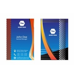 Colorful business cards design vector