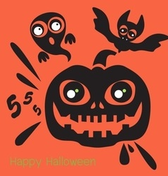 Holidays happy halloween icon vector