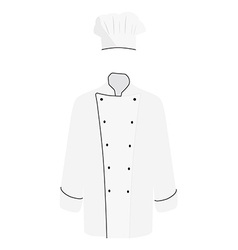 White chef uniform vector