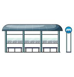 a bus stop vector image vector image
