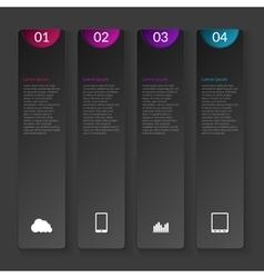 A vertical infographics vector