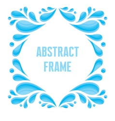 Abstract frame - composition of drops in blue colo vector