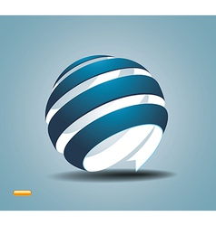 Abstract sphere made from colorful stripes vector