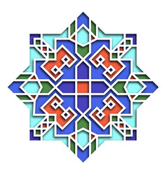 Arabesque pattern vignette in eastern style vector