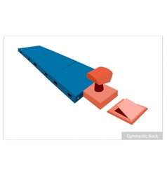 Artistic Gymnastic Buck Equipments on White vector image vector image