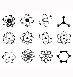 atomic icons vector image vector image