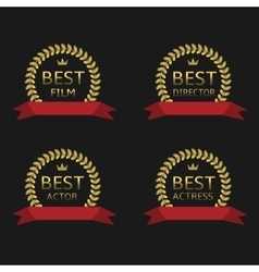 Best film award vector image vector image