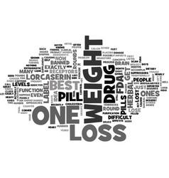Best weight loss pills text word cloud concept vector