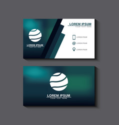 business card set template for identity corporate vector image vector image