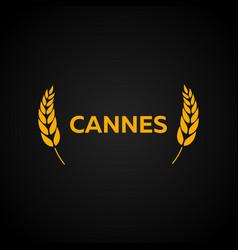 Cannes festival laurel film awards winners film vector
