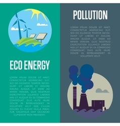 Eco energy and air pollution banners vector