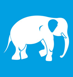 Elephant icon white vector