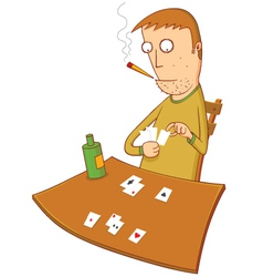 gambler vector image vector image