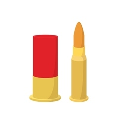 Golden bullets cartoon icon vector image vector image