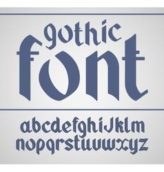 Gothic handwritten font vector