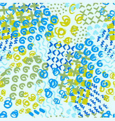 Hand painted seamless pattern vector