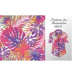 hawaiian aloha shirt an icon in a flat style vector image vector image