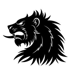 Heraldic lion head simple vector